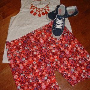 Terra & Sky Size 14W Coral Stretch Shorts
